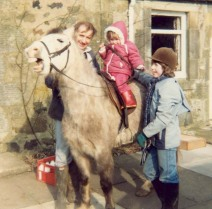 Patrick, Hannah, Becky and 'Flash' in Scotland 1982?