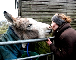 Kelly and Barney, he is soooo cute, he gives the best kisses!
