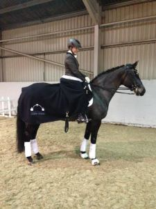 Caluna modelling her Hird & Partners rug kindly given to us from our vets, who, it has to be said are amazing!
