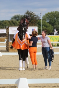 Becky and James Bond winning the Elementary gold at Summer Nationals 2019